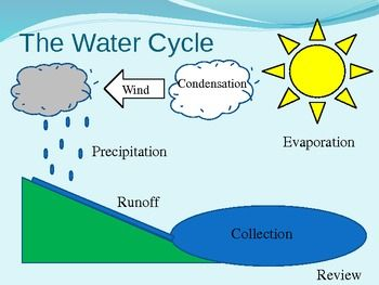 Water Cycle Diagram Interactive PowerPoint Possibly For Individual Lesson