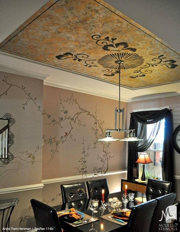 Easpan114b Stencil Furniture Ceiling Design Interior
