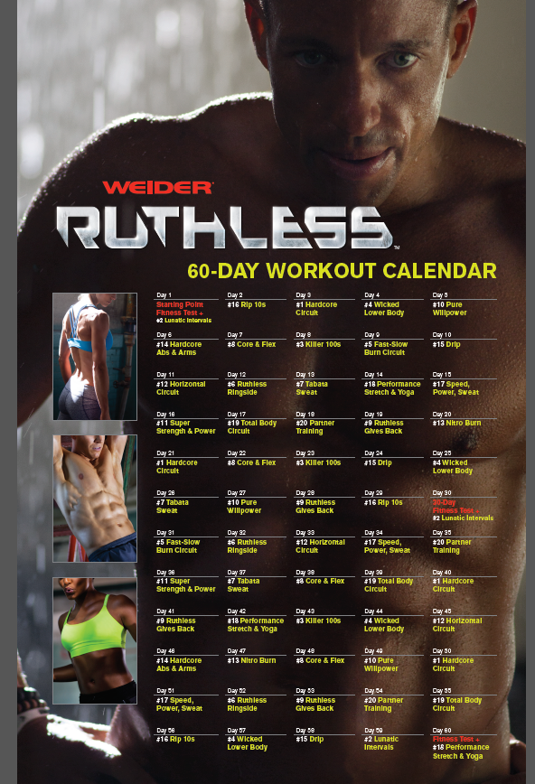 weider ruthless calendar - Google Search | Fitspo ...