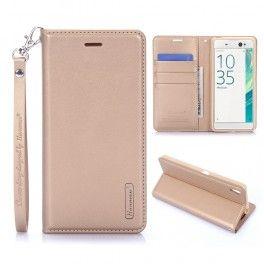 Sony Xperia XA kullan värinen puhelinlompakko.