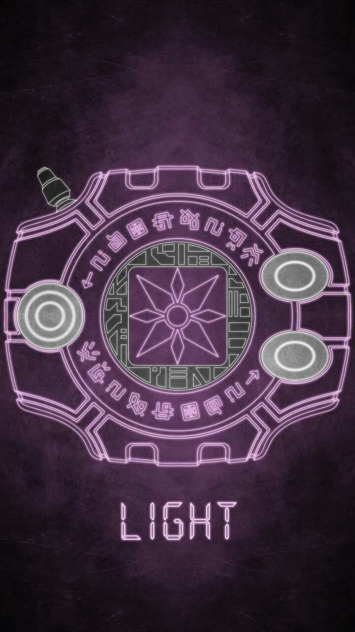 Digivice The Crest Of Light Anime Digimon Wallpaper Digimon