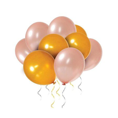 60 Pack Gold Rose Gold Balloons Gold Rose Gold Latex Balloons