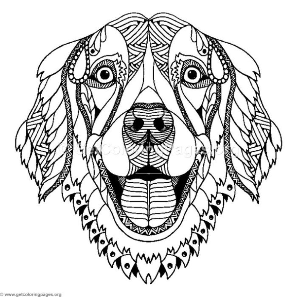 Zentangle Dog Coloring Pages Getcoloringpages Org Dog Coloring Page Zentangle Animals Dog Coloring Book