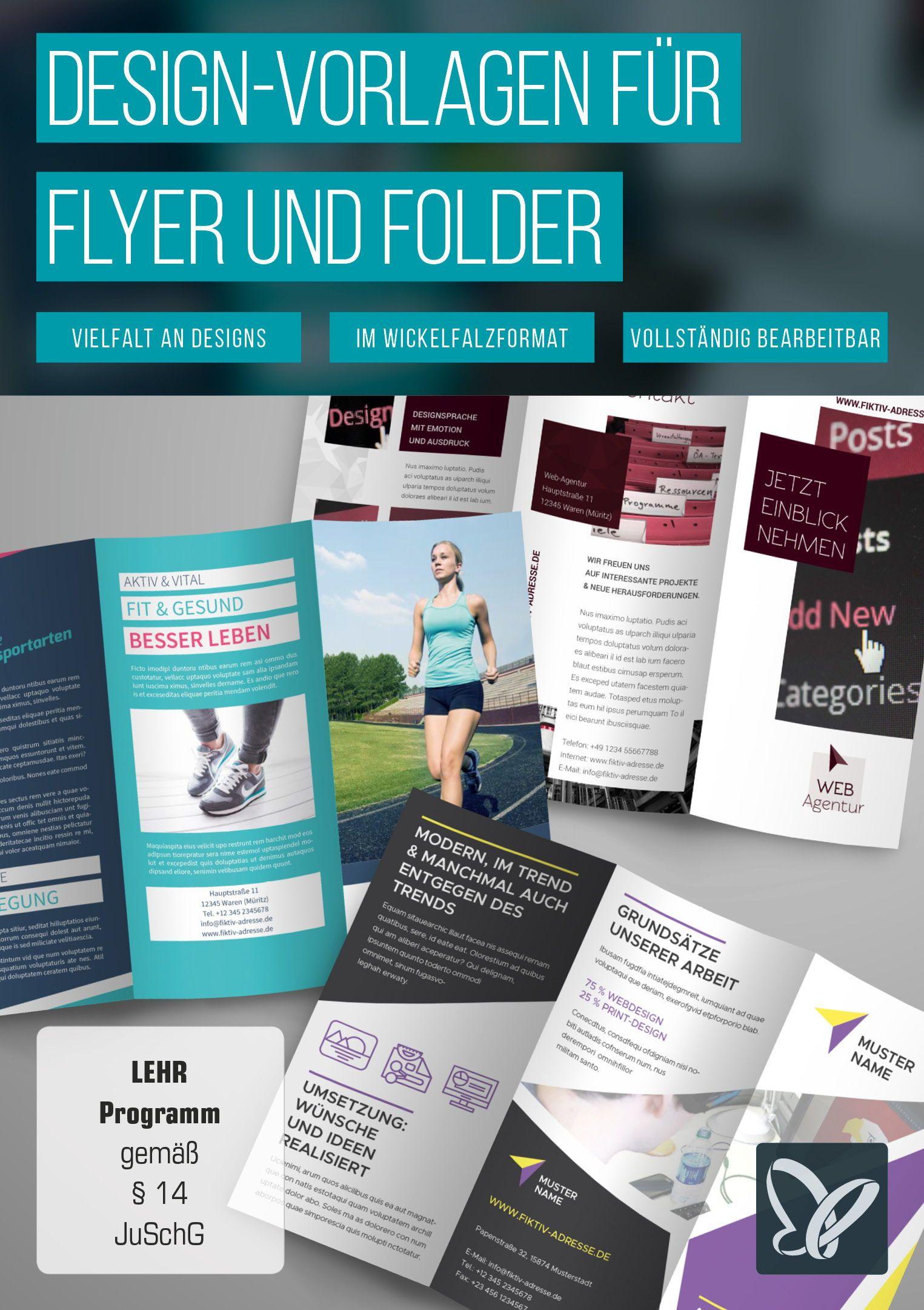Flyer Und Folder Gestalten Fertige Design Vorlagen Herunterladen Flyer Gestalten Flyer Vorlagen