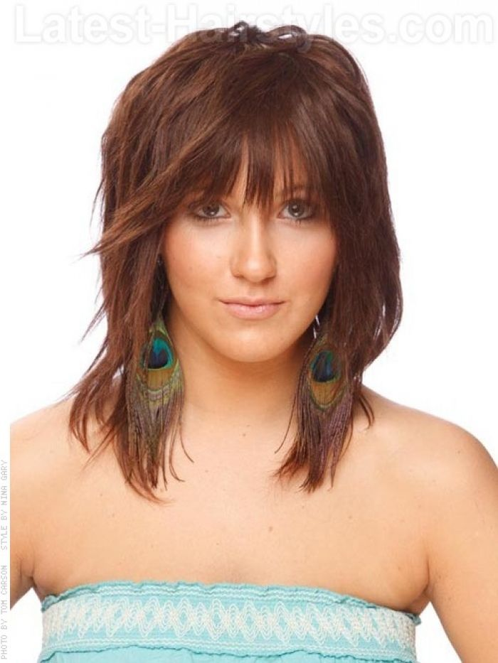 Medium Length Razor Haircuts Razor Cut Shoulder Length Hairstyle