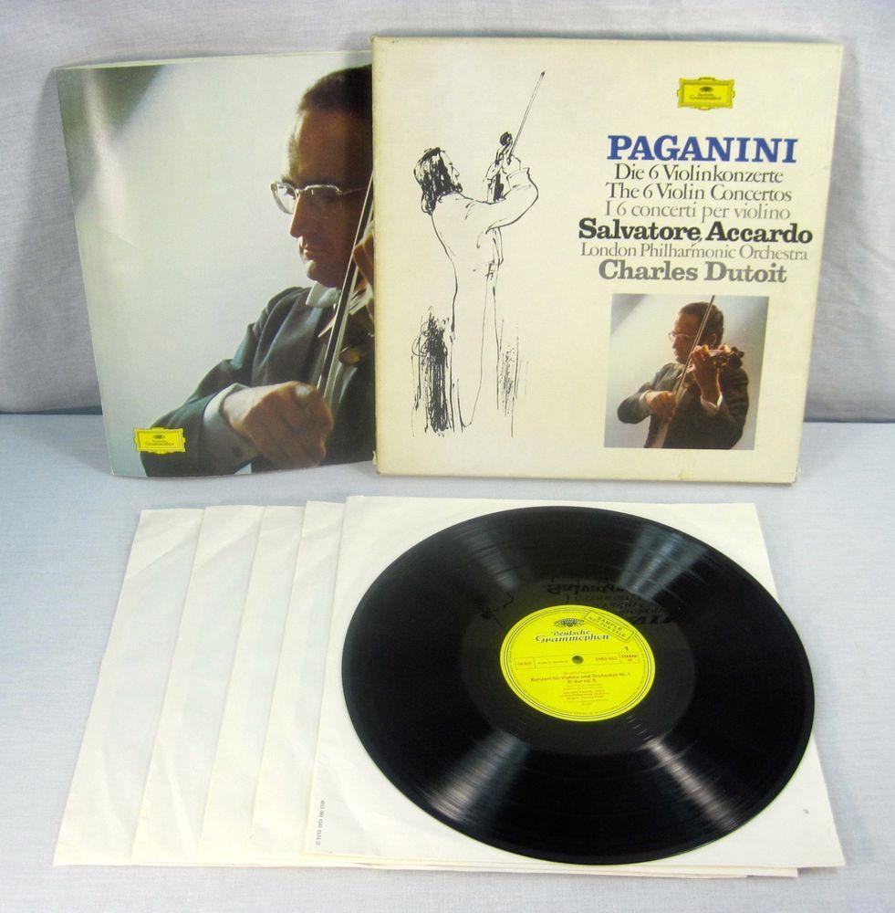 Paganini 1975 6 Violin Concerto Salvator Accardo Promo 5x LP Vinyl Box Set OOP #1970sChamberMusicConcertoSymphony