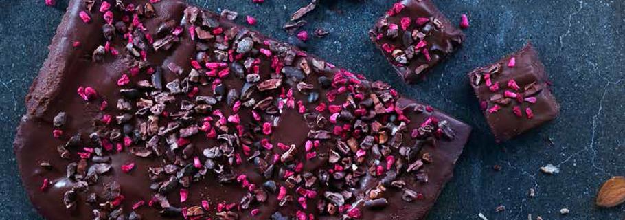chokladtryffel med hallon
