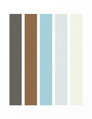 grey, brown, blue, cream colors. color scheme /combo | color