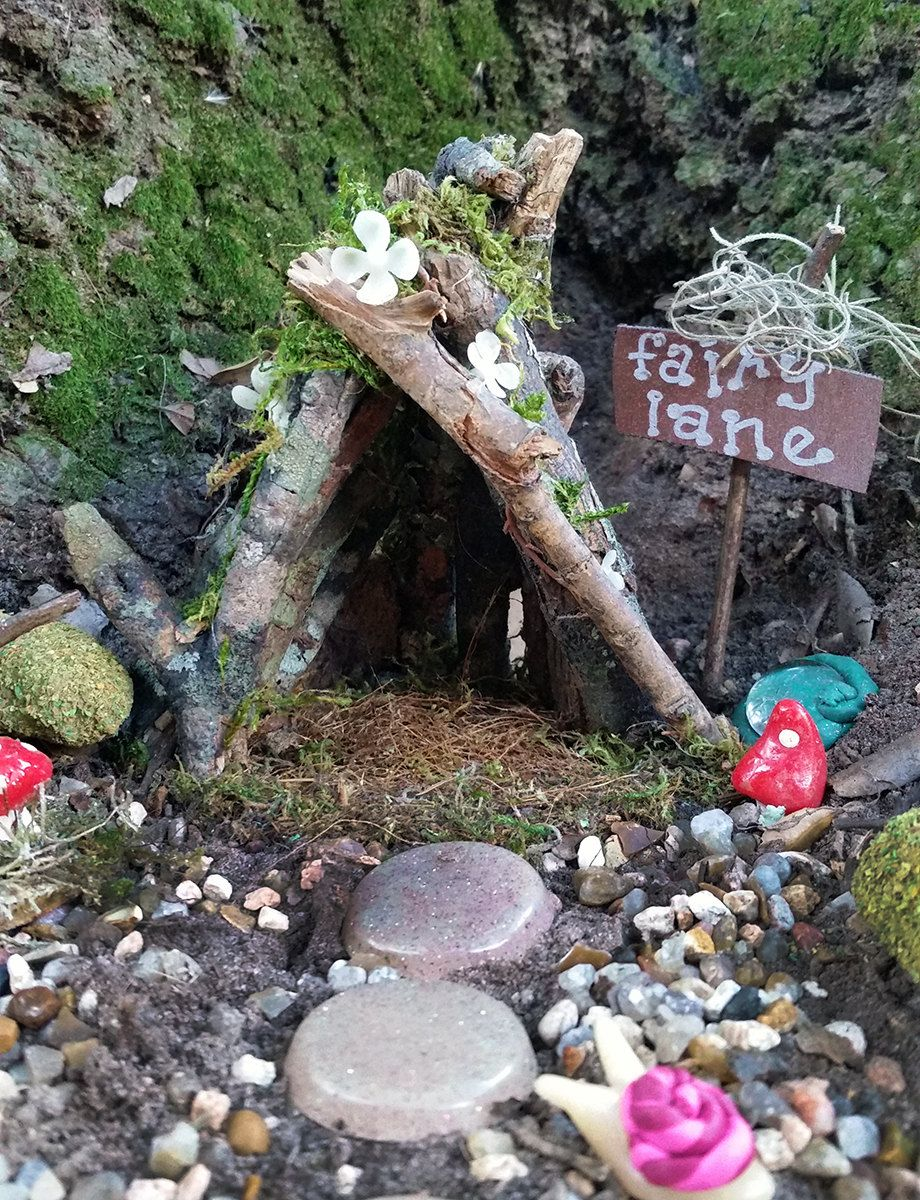 Fairy Garden House Outdoor Terrarium Gnome Kit Miniature Home By
