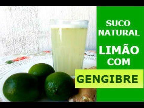 SUCO NATURAL DE LIMÃO COM GENGIBRE