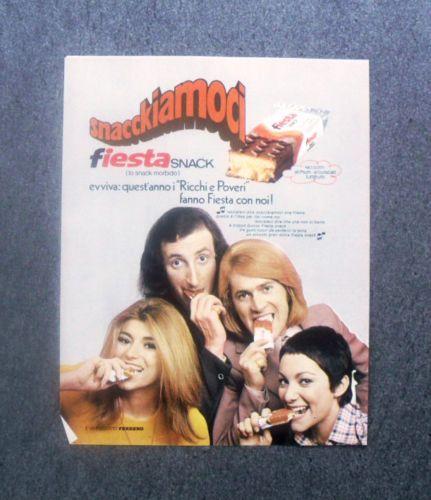 Pubblicita Advertising Fiesta Ferrero Snack Con Ricchi E Poveri 1973 3942 Vecchie Pubblicita Pubblicita Fiesta