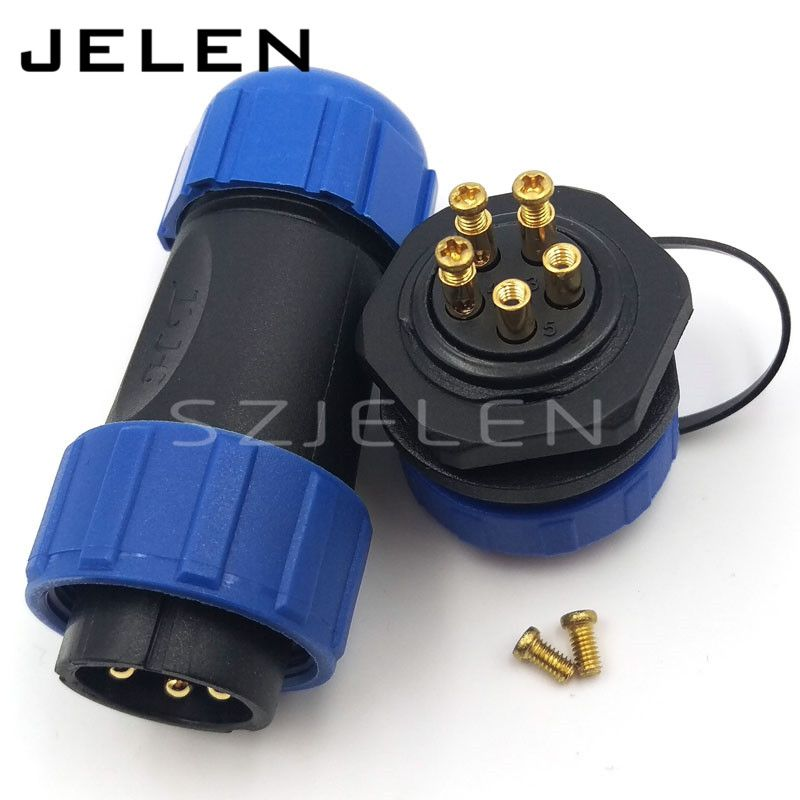 SP2110, waterproof plug and socket cable connector 5 pin ... on Sconces No Electric Plug id=38886