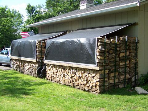 Great Idea To Weigh Down Your Tarp Firewood Pinterest