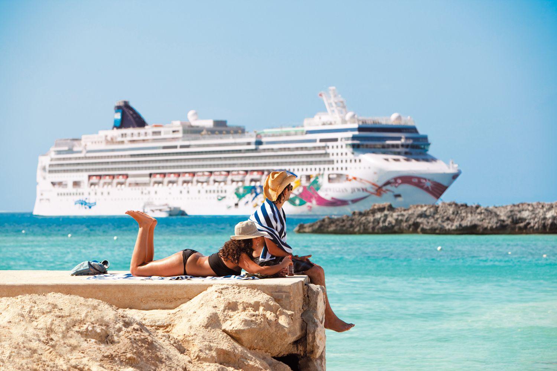 Pure Entspannung, sogar außerhalb vom Schiff