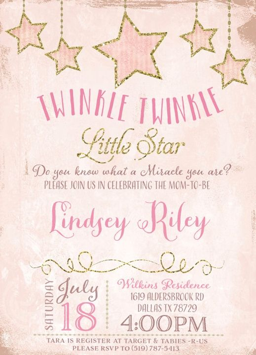 twinkle twinkle little star baby shower invitations 7 baby shower