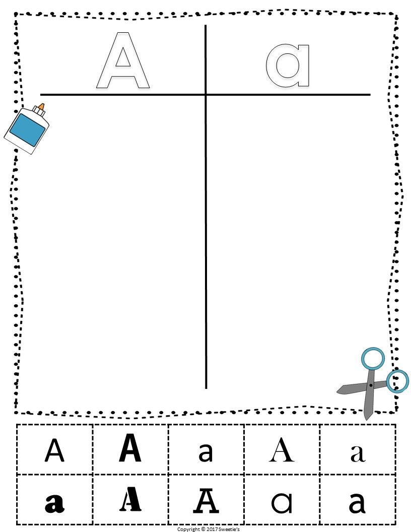 Alphabet Sorting Worksheets 4 Sets From Sweetie S Alphabet Worksheets Sorting [ 1056 x 816 Pixel ]