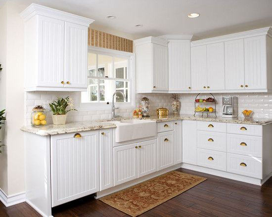 Interior Design Captivating Traditional Kitchen With Exciting White Beadboard Cabinets Also Conservative Sink