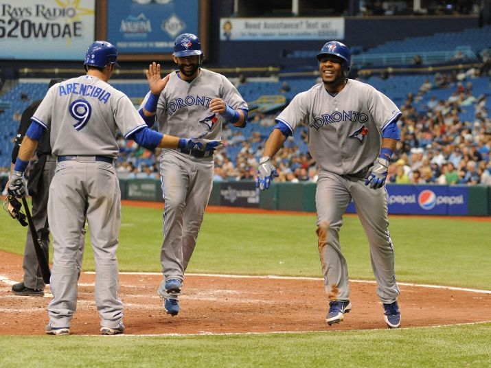 May 23 2012 Edwin Encarnacion Hits A 2 Run Homer In The 8th Inning To Tie The Game At 4 4 But The Rays Score In The 11 Toronto Blue Jays Blue Jays Tampa Bay