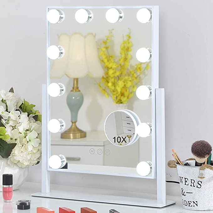FENCHILIN Lighted Makeup Mirror Hollywood