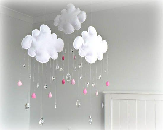 DIY : Des nuages pluvieux pour la chambre de bébé | Pluie, Nuage ...