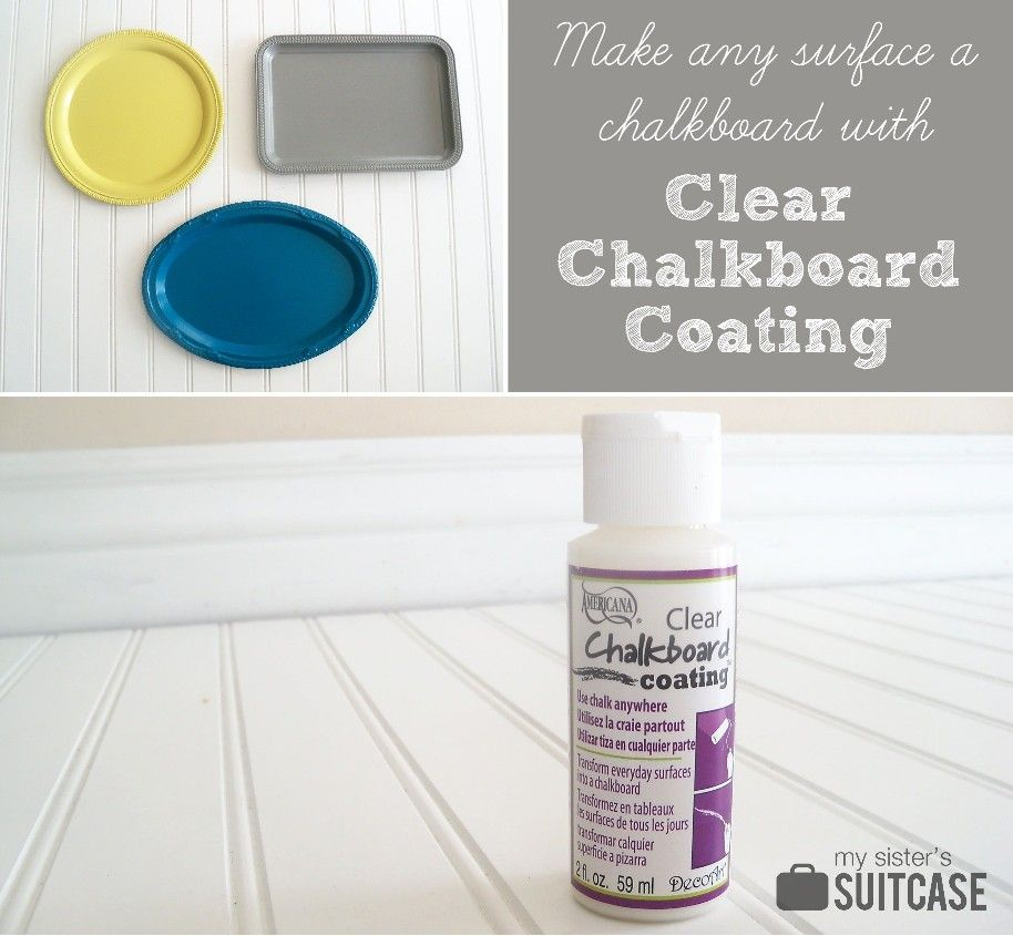 Make any surface a chalkboard with clear chalkboard coating
