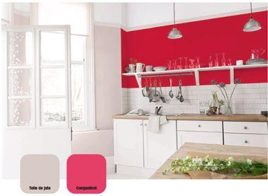 Cuisine Rouge Qui Donnent Des Idées De Décoration Cuisine - Meuble cuisine rouge pour idees de deco de cuisine