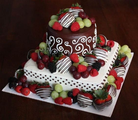 Image result for simple birthday cakes for women Favorite Recipes