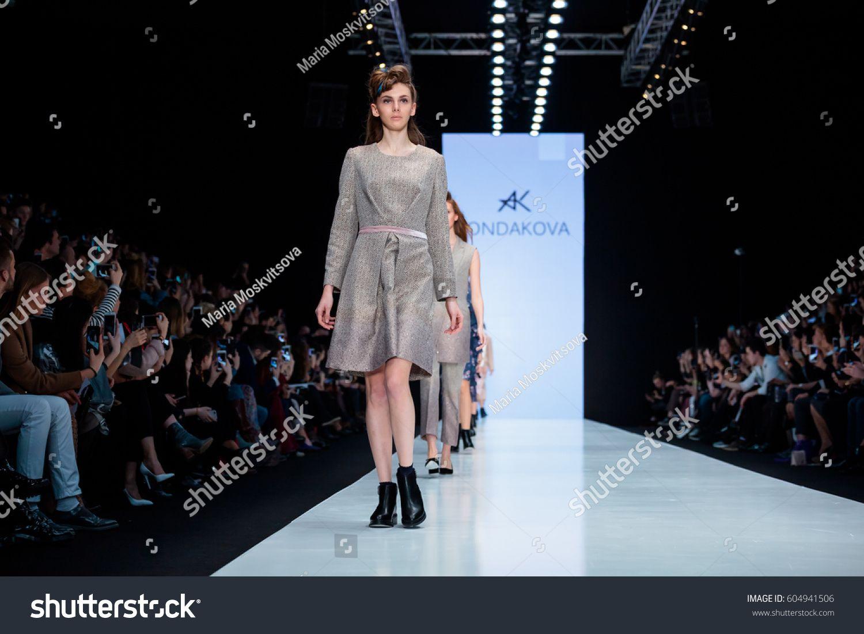 MOSCOW, RUSSIA - MARCH 14, 2017: Model walk runway for KONDAKOVA catwalk at Fall-Winter 2017-2018 at Mercedes-Benz F #Ad , #affiliate, #walk#Model#KONDAKOVA#runway