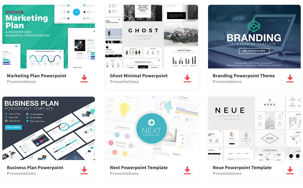 Full Access All Presentation Templates Powerpoint Templates