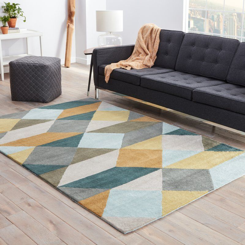 You Ll Love The Gump Gray Yellow Geometric Area Rug At Allmodern With Great Deals On Modern D Amp Eacute Cor P Rugs In Living Room Yellow Rug Teal Area Rug