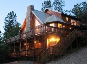 The Mountain Vista Luxury Cabin In Broken Bow Exudes A Serene Glow As Night Falls Broken Bow Oklahoma Cabins Broken Bow Cabins Broken Bow Oklahoma