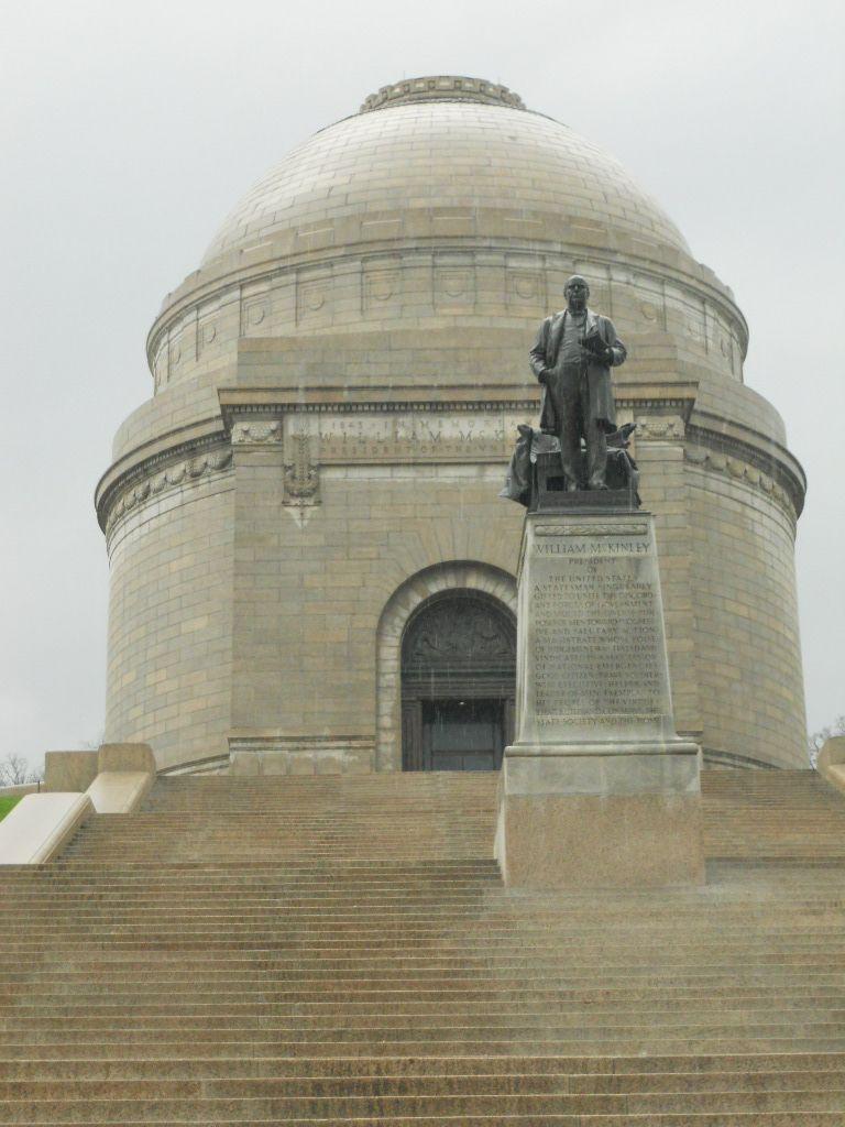 Pres. McKinley stands watch over his Memorial