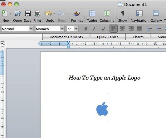 Type An Apple Icon On Mac Computer Apple Icon Apple Mac