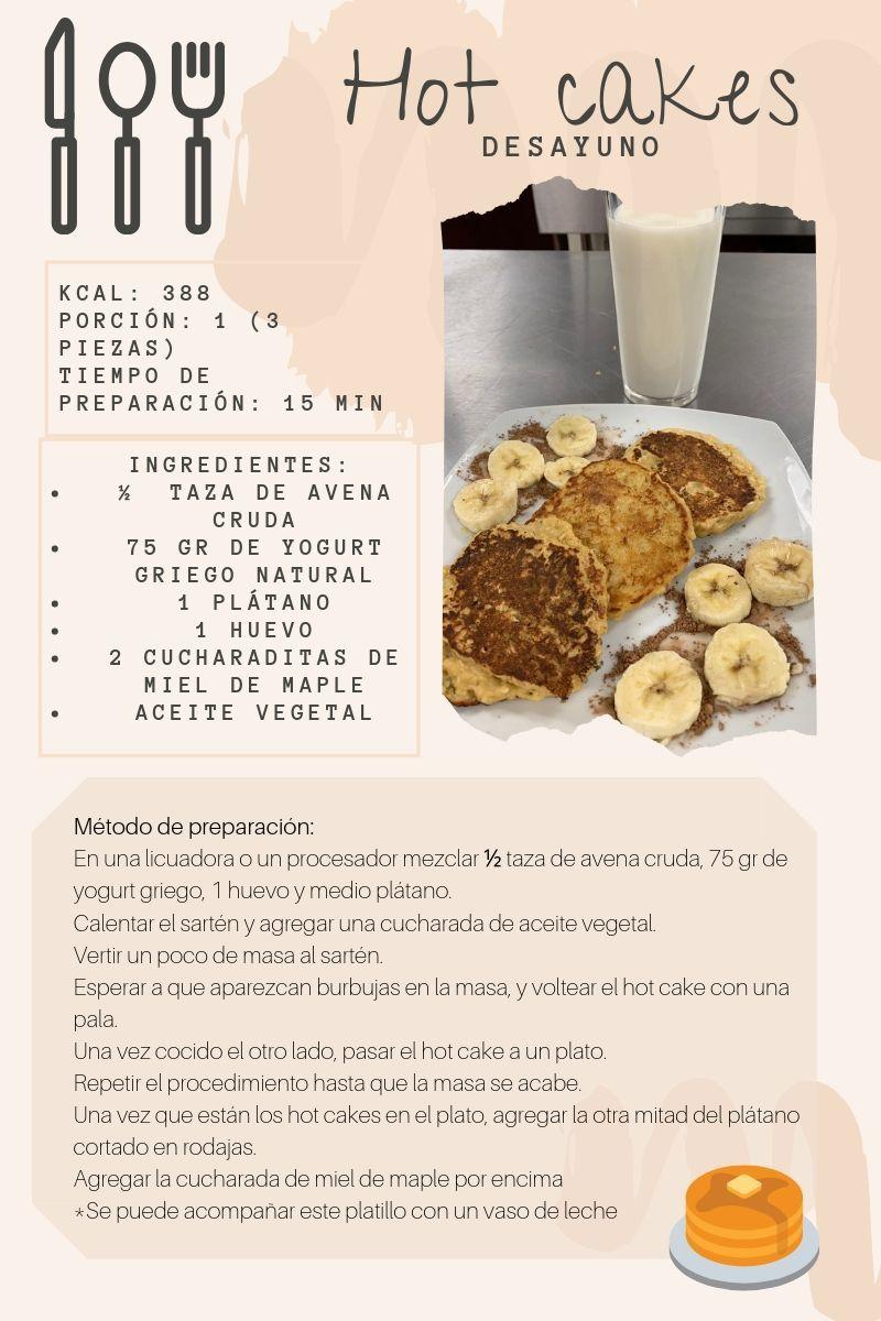 Hot Cakes De Plátano Avena Yoghurt Food Breakfast French Toast
