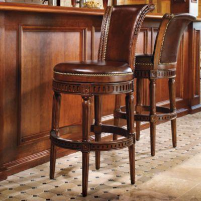 Manchester Swivel Bar Stool 299 30 Ht Seat Black Or Mahogany