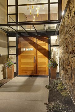 Forest House - Exterior features - contemporary - entry - seattle ...