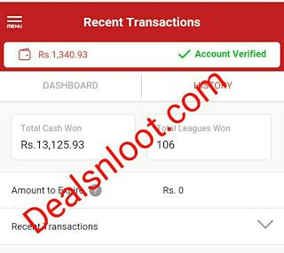 (Rs. 13000+ Proof) Dream11 Big Loot Join Fantasy Cricket