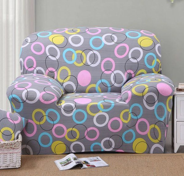 High Quality Sofa Covers For Home Sweet Polka Dot Pattern Circular Design Slipcovers