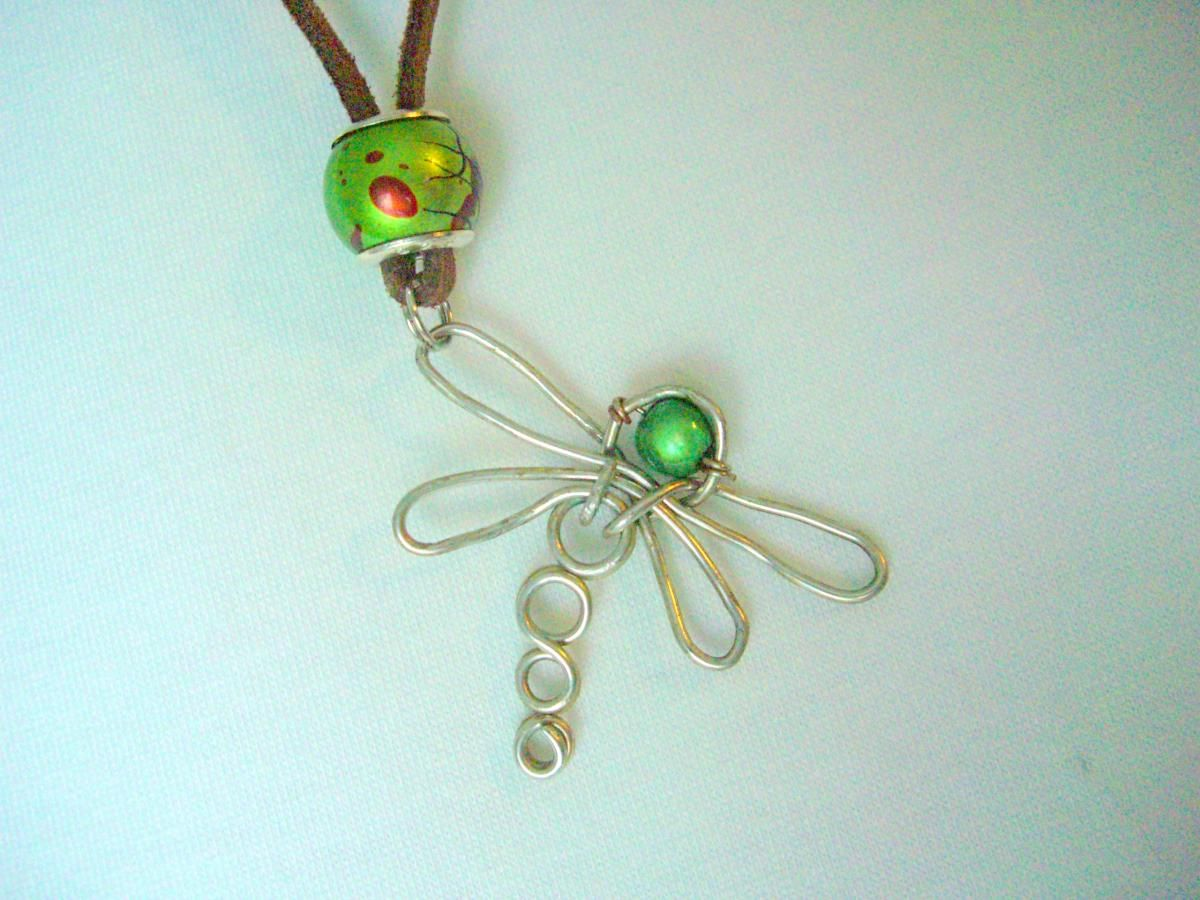 Dragonfly Pendant Necklace Wire Wrapped   Libélulas   Pinterest ...