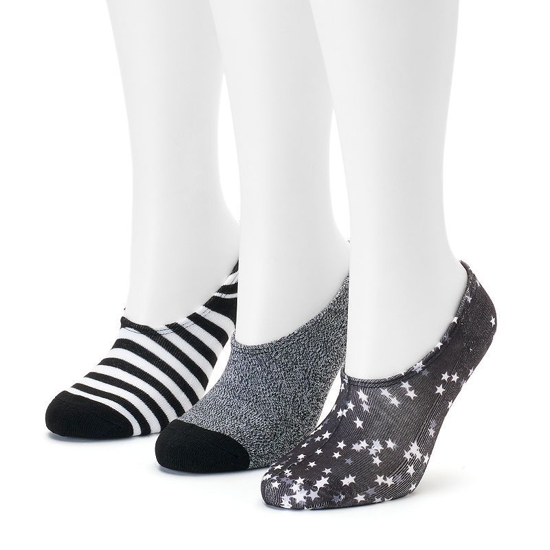 Womens Converse Made For Chucks 3pk Sublimated Stars NoShow Socks