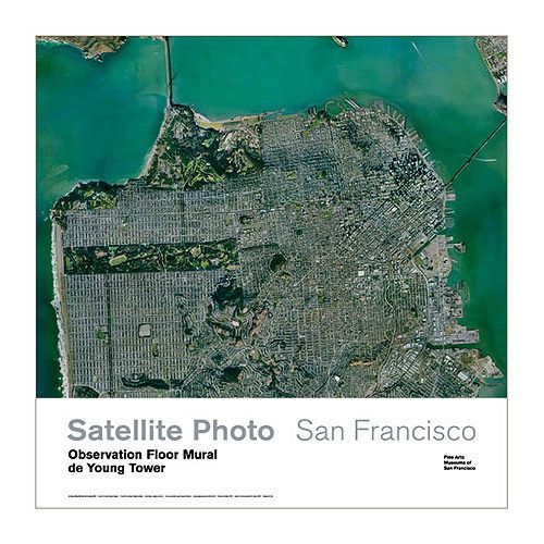 Satellite View of San Francisco Poster available at the de Young