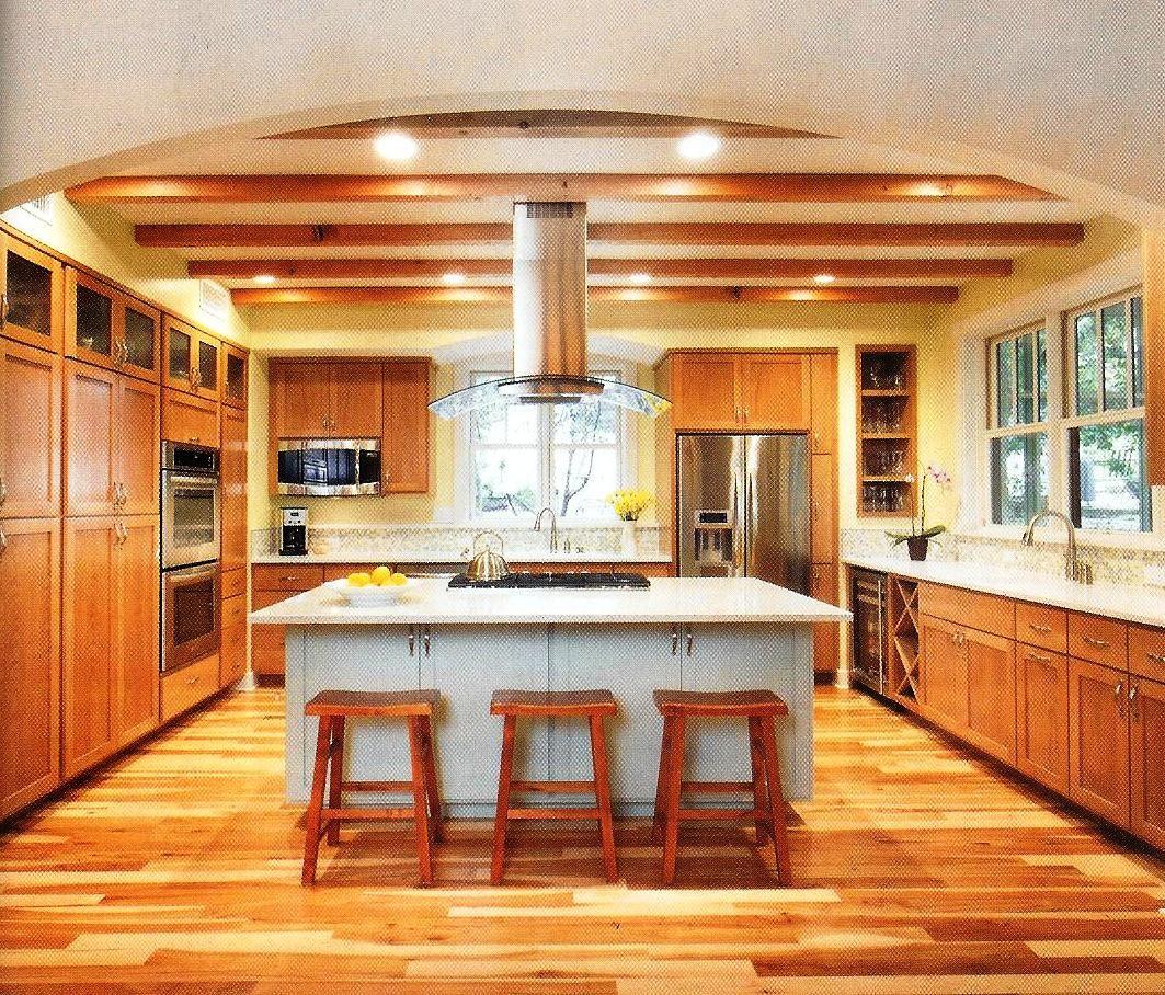 Kitchen | Hickory cabinets, Hickory kitchen, Hickory flooring