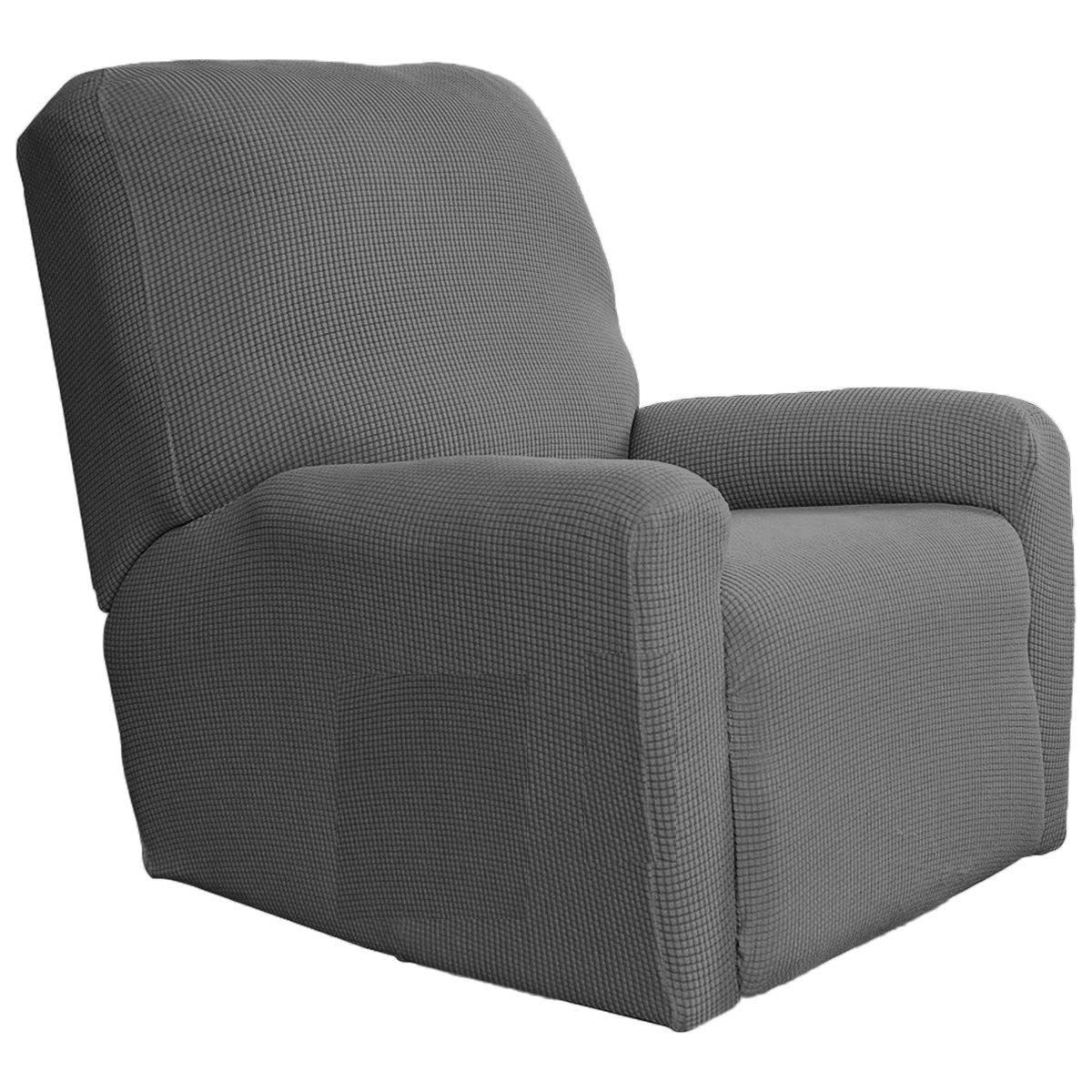 Amazon Com Fancy Collection Sure Fit Stretch Recliner Stretch Slipcover Blue New Home Kitchen Slipcovers Furniture Protectors Sofa Covers