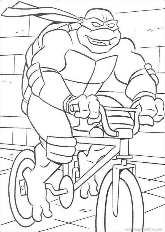 Teenage Mutant Ninja Turtles Coloring Pages 55 Malarbocker Farglaggningssidor Barn Farglagga