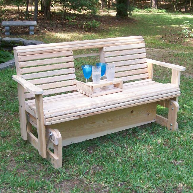 La Cypress Swings Cgf5 Flip Cup Holder Glider Bench At Atg Stores Beach Chairs Diy Diy Outdoor Furniture Diy Bench Outdoor