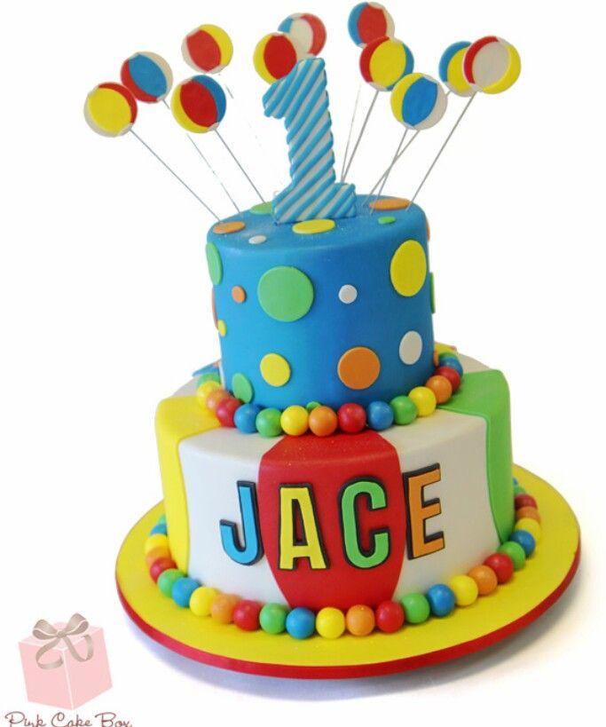 Beach Ball Cake Decorations Beach Ball Cake Topper  Thorin's Birthday Parties  Pinterest