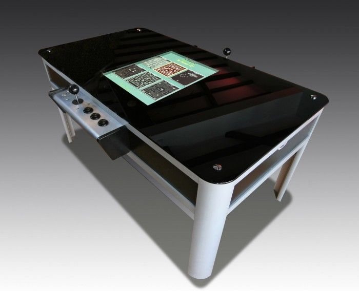 Inspired by 1980s gaming tables the luxury retro games coffee