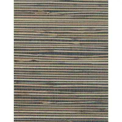 York Wallcoverings Grasscloth Book 72sq ft Blue Paper