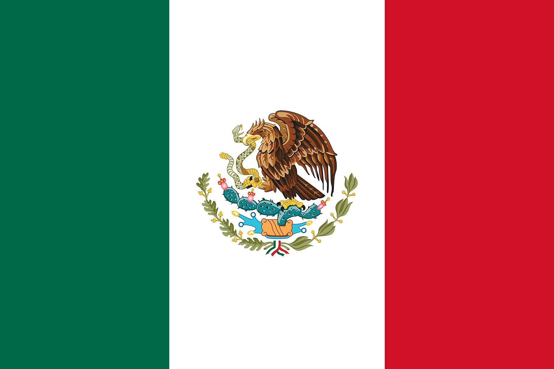 Vector Of Mexican Flag Mexico Flag Mexican Flags Mexico For Kids
