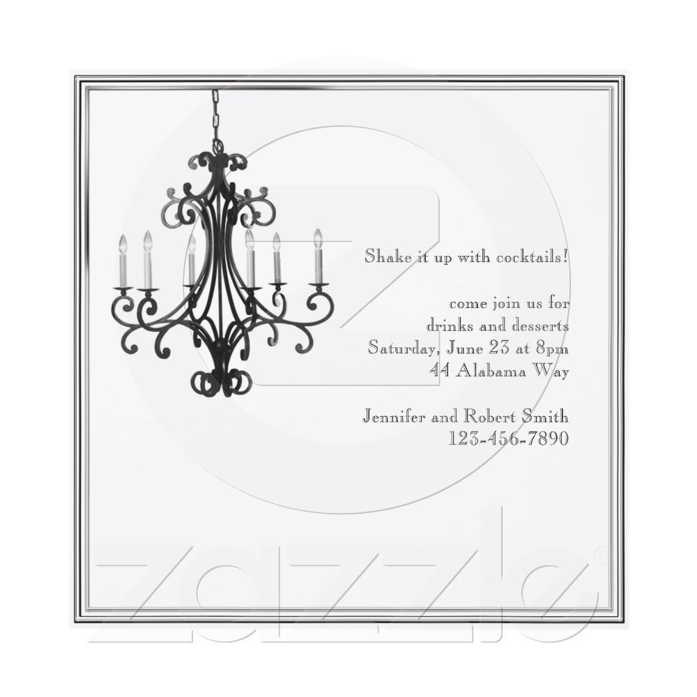 Hollywood Glamour Chandelier Party Invitation | Happily Ever After ...